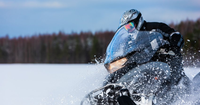 Drunk driver arrested in the Interior after his unsecured snowmobile narrowly missed a travelling vehicle