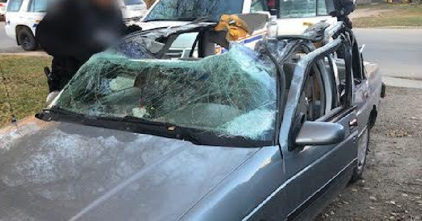 Police in Saskatchewan catch vehicle driving around with top completely ripped off