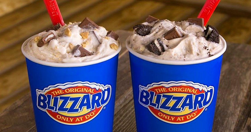 Amazing Dairy Queens Buy One Get One For 99 Cent Blizzard Promo Is Back Personalised Birthday Cards Cominlily Jamesorg