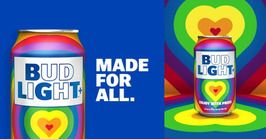 Bud Light produces rainbow-coloured beer can in support of