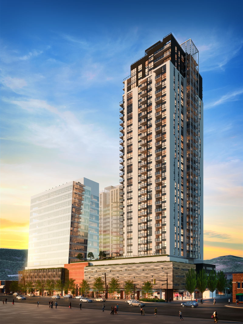 Details revealed for massive third tower proposed for Bernard Block project