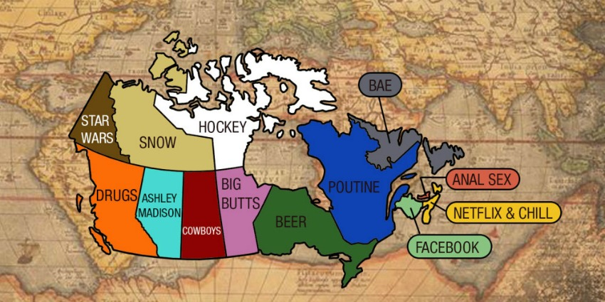 Funny Map Shows Who was Googling What in 2015