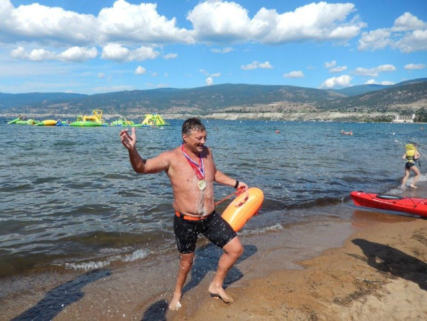 <who> Photo Credit: Shayn Swims Okanagan Lake