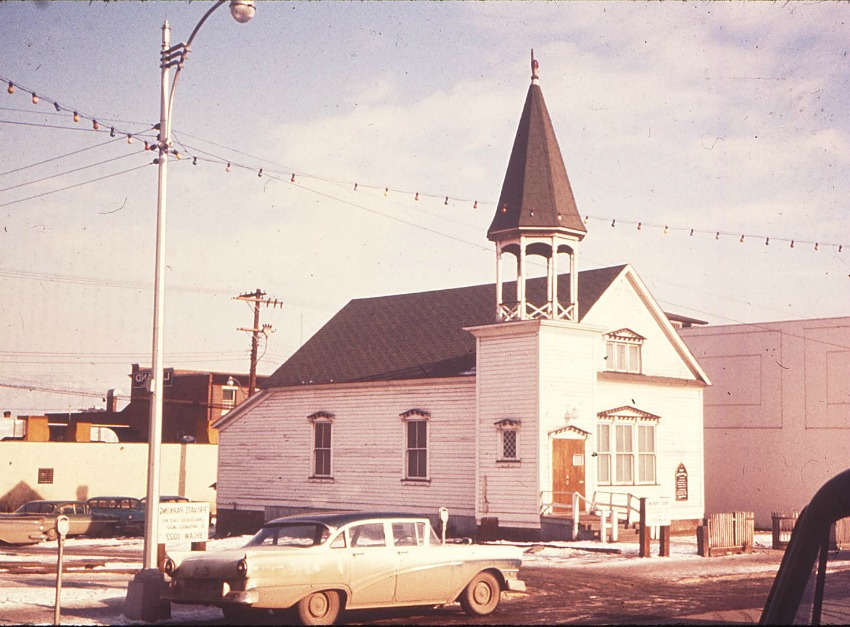 <who> Photo Credit: Kamloops Muesum and Archives </who> The First Baptist Church dates back to 1893.