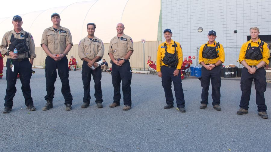 <who>Photo Credit: NowMedia</who> Members of the Penticton Fire Department