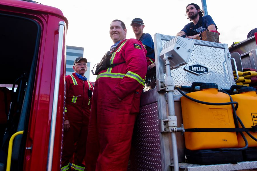 <who>Photo Credit: NowMedia</who> The Vavenby Fire Department represents