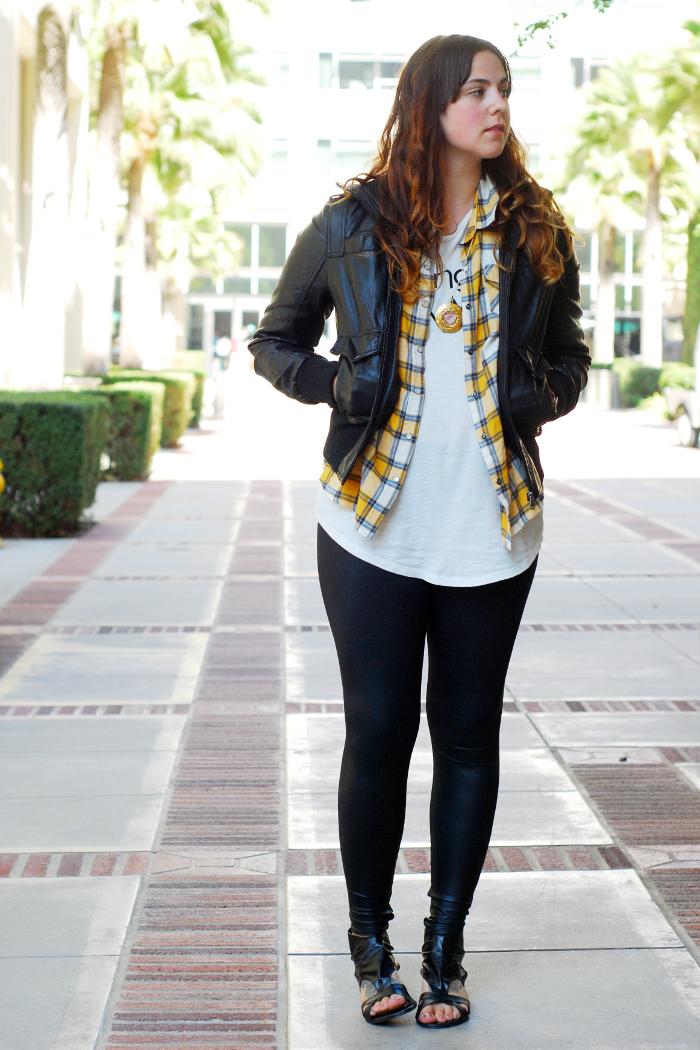 Ways to Wear: Leather Look Leggings
