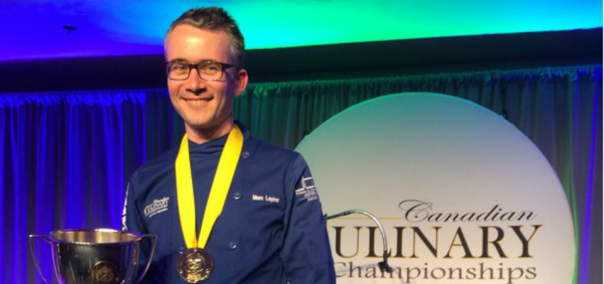 <who> Photo Credit: Gold Medal Plates/ Twitter </who> For the second year in a row, Marc Lepine wins the Canadian Culinary Championships.
