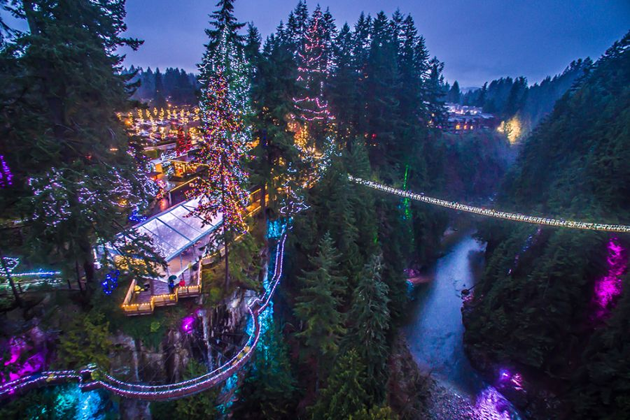 <who> Photo Credit: Canyon Lights/Capilano Suspension Bridge Park.