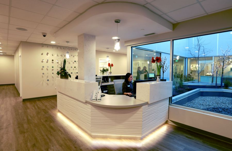 <who>Photo Credit: KelownaNow</who>The new clinic is bright and features a beautiful design throughout, including a courtyard.
