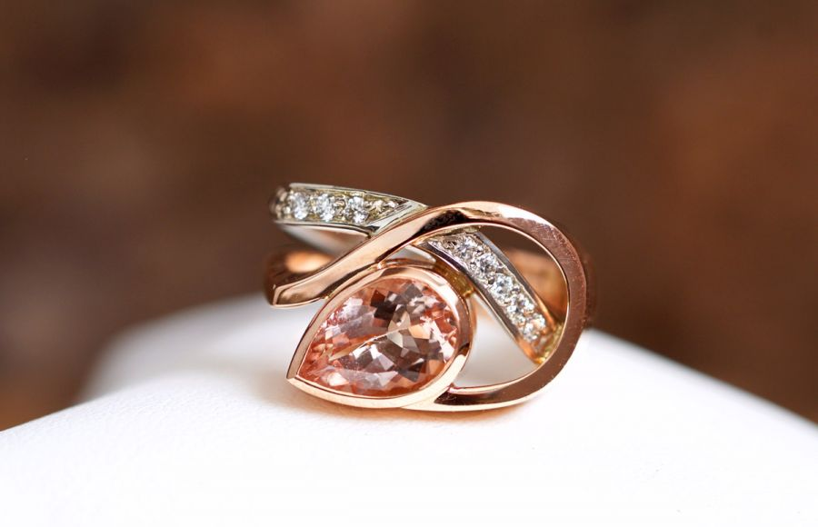 <who>Photo Credit: Contributed</who>Rose gold is one of the most popular jewellery trends of late. Here John blends a unique morganite gemstone with white and rose gold.