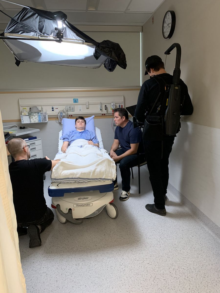 <who>Photo Credit: Kelowna General Hospital Foundation</who>Behind the scenes: film shoot at KGH