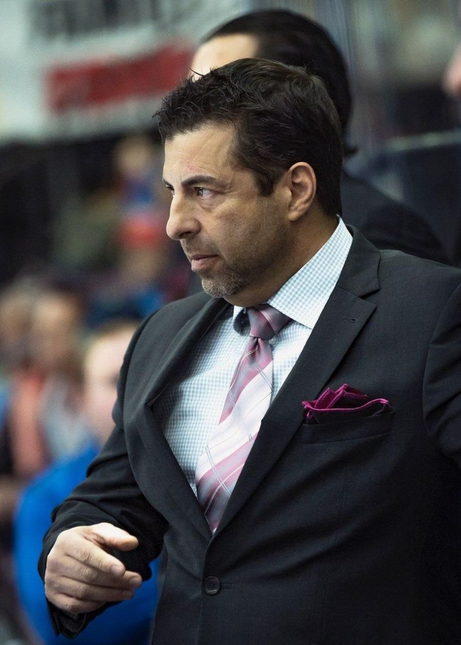 <who> Photo Credit: Penticton Vees. </who> Vees head coach Fred Harbinson.