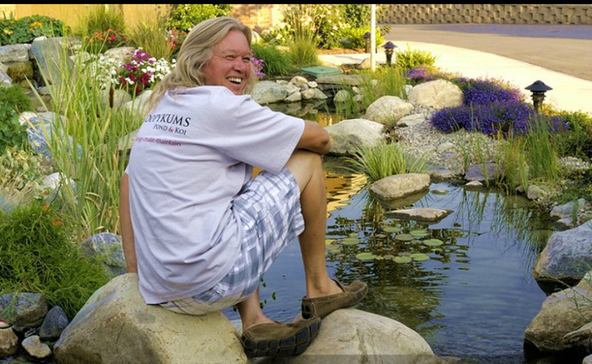 In focus alan stirling of loopykums pond and koi for Koi fish pond kelowna