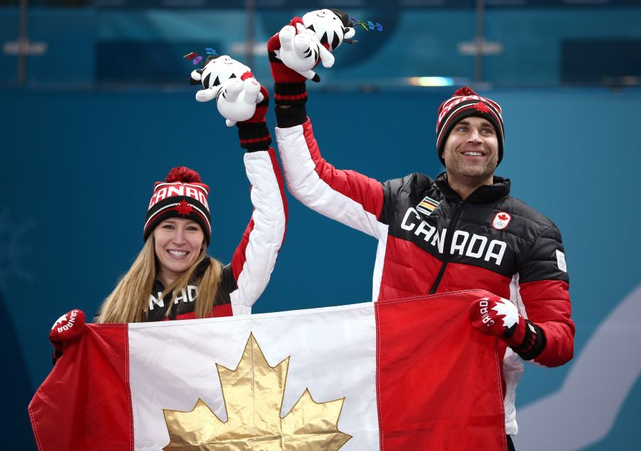 <who>Photo credit: Dan Istitene/Getty Images</who> Gold medal winners Kaitlyn Lawes and John Morris.