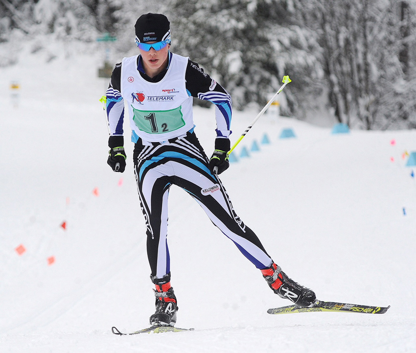 <who>Photo Credit: Lorne White/KelownaNow </who>Kelowna's Gregor Graham of the Telemark Nordic Club will be joined by teammates Nikhil Filatow of Kelowna and Garrett Siever of West Kelowna at the BC Winter Games in Kamloops.