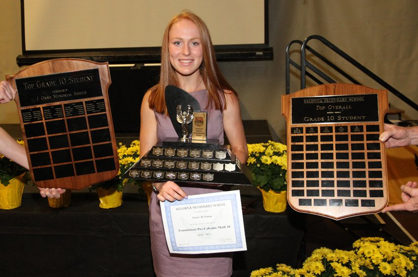 <who>Photo Credit: Contributed </who>McKinney was a multi-award winner at KSS in her Grade 10 year.