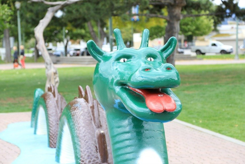 <who> Photo Credit: KelownaNow.com </who> The Ogopogo lives in Okanagan Lake.