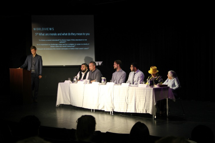 <who> Photo Credit: KelownaNow.com. </who> Six panelists discuss some of life's toughest questions at UBCO.