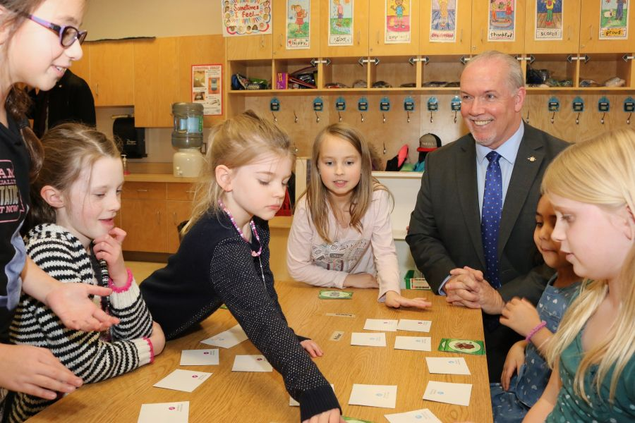 <who>Photo Credit: Government of B.C.</who>Premier John Horgan was on hand for the announcement of the new school in February.
