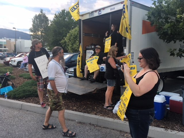 <who>Photo Credit: NowMedia </who>Until Gateway Casinos management presents a fair and adequate wage offer, the 10-week strike by almost 700 unionized workers at casinos in Penticton, Kelowna, Kamloops and Vernon will continue, says BCGEU president Stephanie Smith.