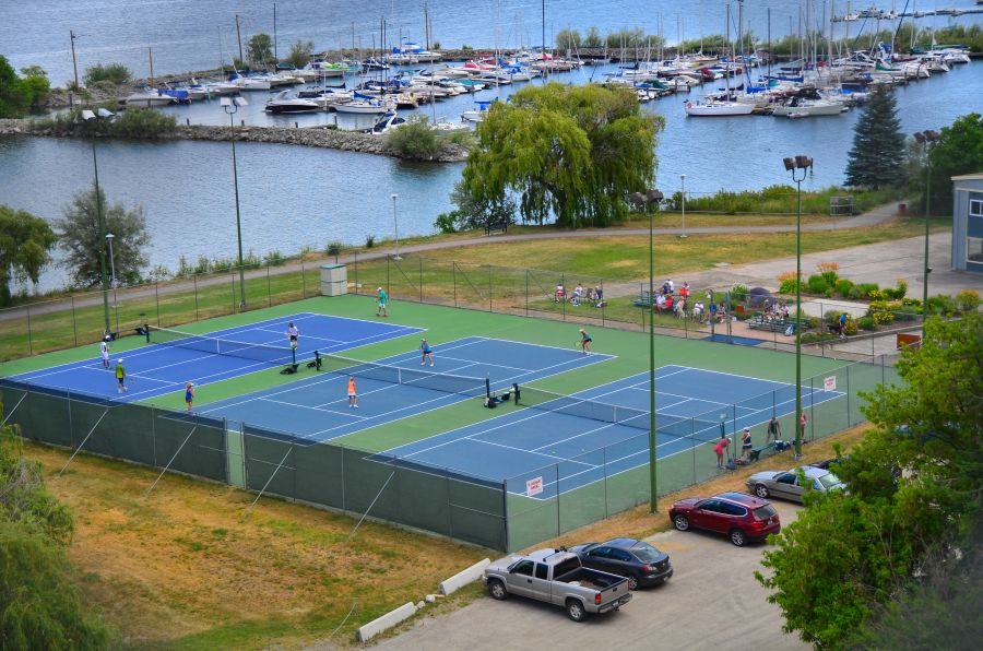 <who>Photo Credit: Contributed </who>The squash courts at the Lakeshore Racquets Club in Summerland are located beside the popular tennis courts.