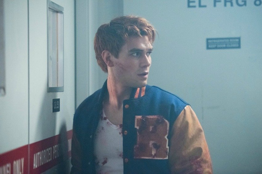 <who> Photo Credit: IMDb </who> K.J. Apa plays Archie on Riverdale.