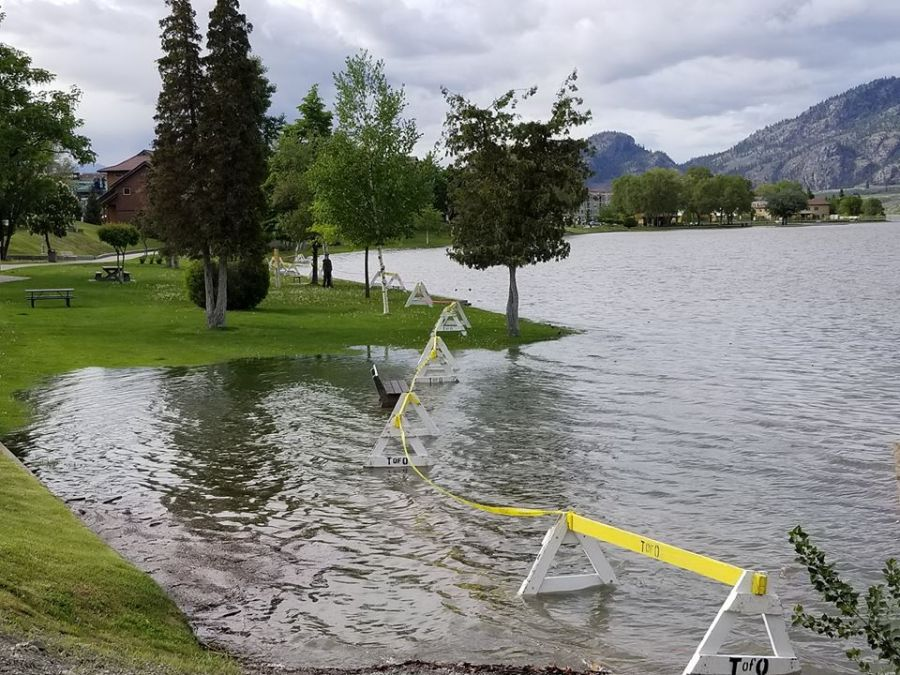 <who>Photo Credit: Facebook Osoyoos Loop </who>Penticton Council will be meeting with provincial ministers to discuss flood recovery efforts at the UBCM conference this week.