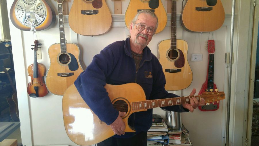63d2fa42bc9 Summerland luthier's love affair with the guitar continues after 60 ...