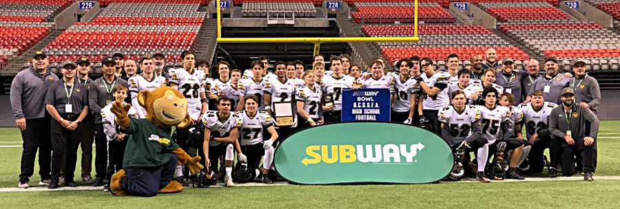 <who>Photo Credit: Contributed </who>The Kelowna Owls defeated the Belmont Bulldogs of Victoria 38-12 to claim the B.C. junior varsity AAA high school football championship on today at BC Place. Members of the team are: Parker Drobot, Lucas Woychuk, Kasian Kayfish, Tariq Brown, Nathan Beauchemin, Risto Zimmer, Nick Tonogai, Caeleb Schlachter, Xander Kennedy, Noah Gross, Kieran Koltun, Aidan Vint, Evan Fitchett, Connor Bjorgan, Jack Nyrose, Max Treble, Jake Schlachter, Allan Burnell, Jack Marsland, Hunter Trca, Michael Kinloch, Keysean Lyder, Mitchell Darlington, Curtis Macfarlane, Mason Eng, Jacob Wojciechowski, Liam Austin, Diego Parada, Everett Schmuland, Jackson Saini, Jacob Kehtier, Dylan McBratney and Raegan Bazzana. Coaches: Kendall Gross, Guy Lemieux, Angelo Brown, Chuck Liebrock, Dean Kennedy, Chris Cartwright, Trent Schmuland, Jerod Zaleski, Tyler Woloshyn and Joe Schlachter,