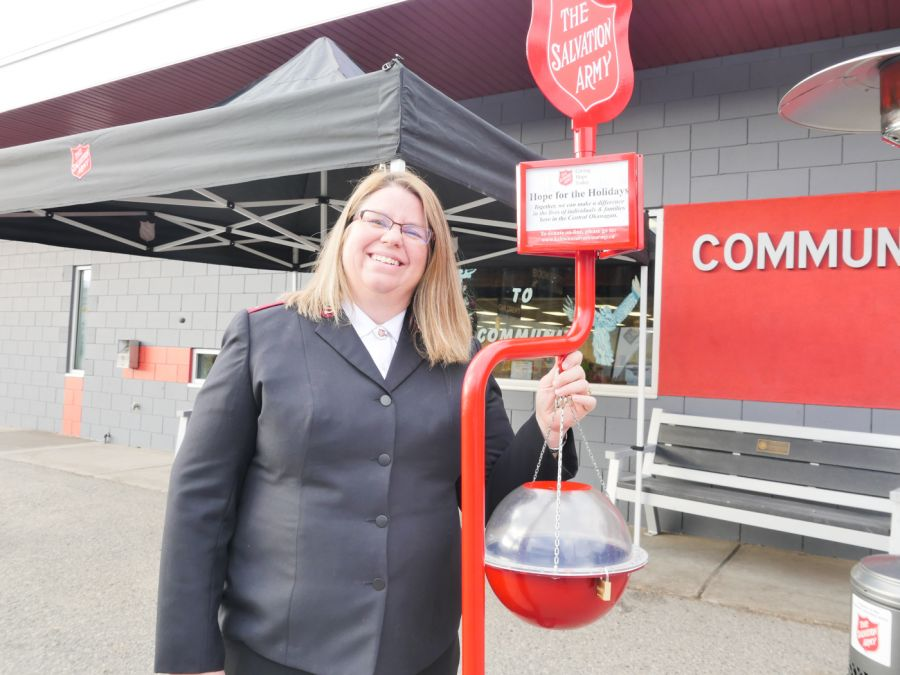 Salvation Army red kettles half way to Christmas goal