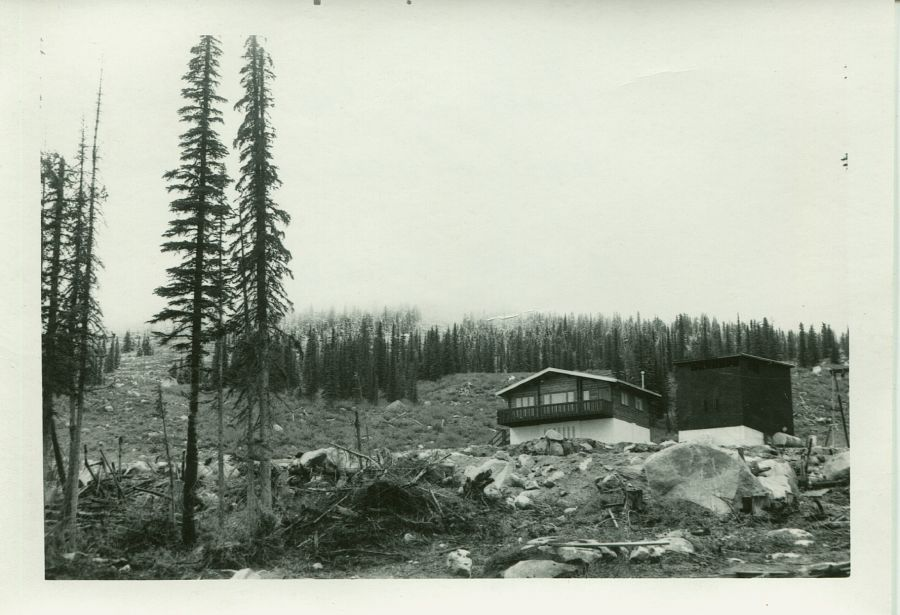 <who> Photo Credit: Courtesy of Big White. </who> The first on-mountain accommodation was constructed in 1968.