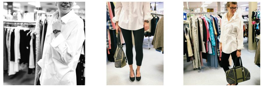 <who> Photo Credit: KelownaNow </who> Outfit: Shirt $12.00, Pants $5.00 (buy one get one free), Necklace $2.00, Shoes - $8.50