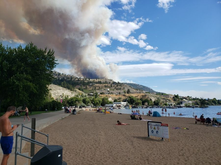 One home burned in BC wildfire, hundreds evacuated, thousands more on notice