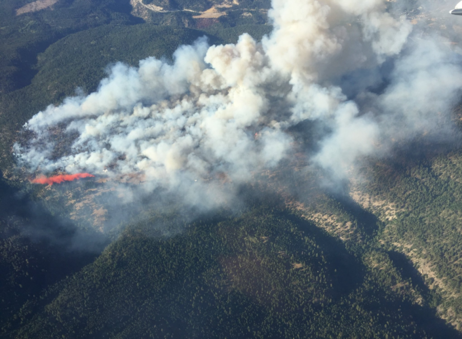 Aggressive wildfire near Peachland, BC, doubles in size