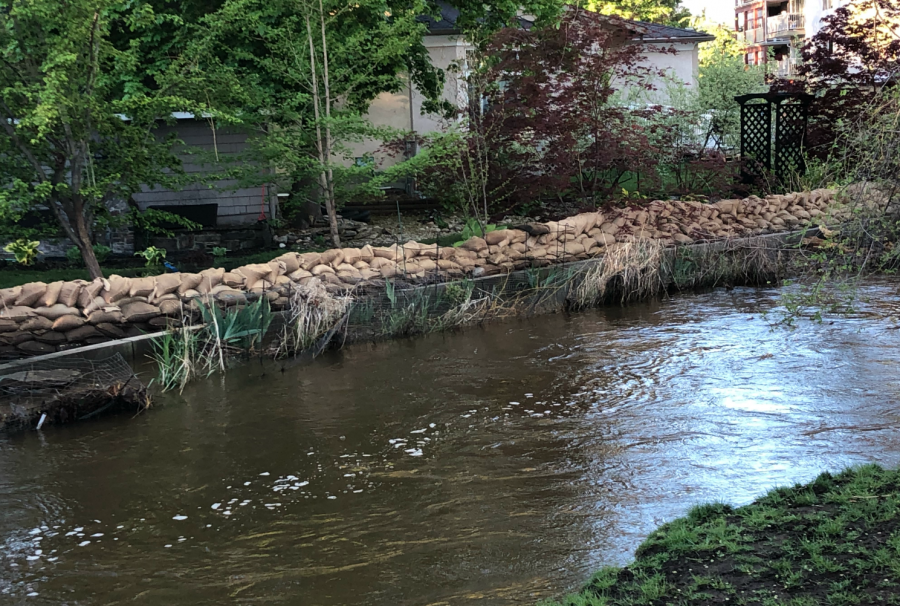 <who>Photo credit: KelownaNow</who>Mill Creek at the Buckland Avenue on May 11, 2018.