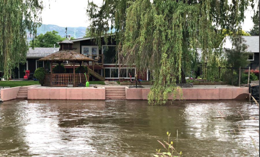 <who>Photo Credit: KelownaNow</who> Mission Creek at the Lakeshore bridge on June 10, 2018.