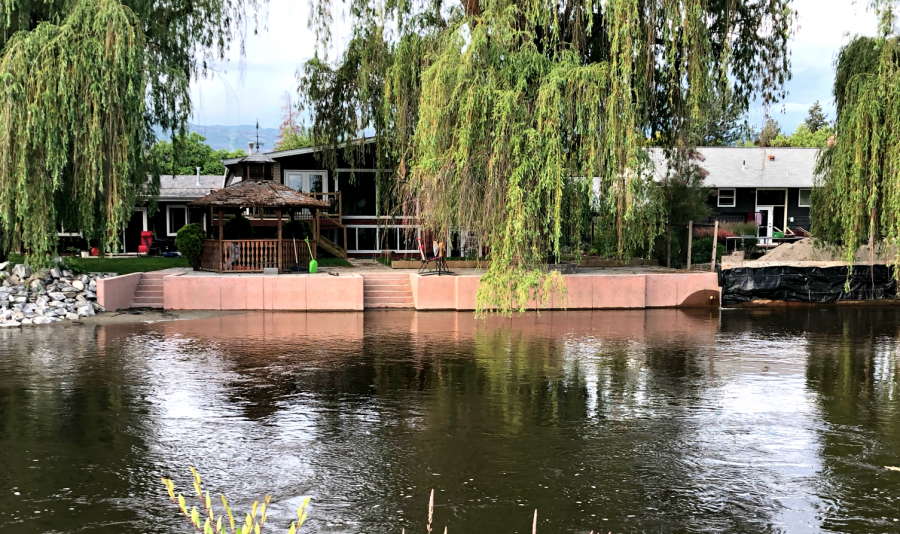 <who>Photo Credit: KelownaNow</who> Mission Creek at the Lakeshore bridge on June 13, 2018.