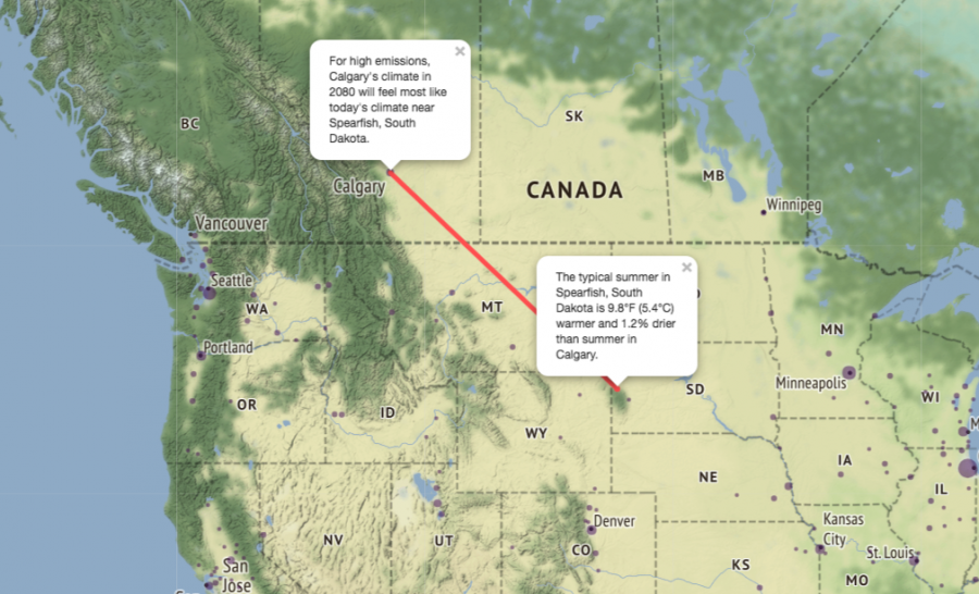 Map Of Canada Today.Look 1 000km South For An Idea Of Canada S Future Climate