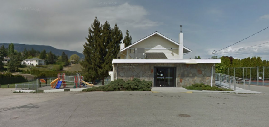 <who> Photo credit: Google Maps </who> Lakeview Heights Community Hall.