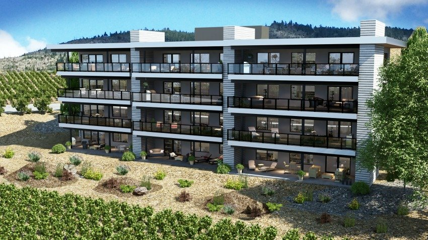 <who> Photo Credit: Contributed </who> Skaha Hlls Ph III Exterior Back Rendering