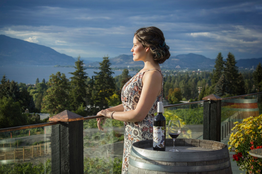 <who>Photo Credit: Crimson Hair Salon / Tika Michelle Photography</who>Okanagan wineries are all about causal elegance, so pin your hair in a loose bun with some messy curls that make you look like a goddess.