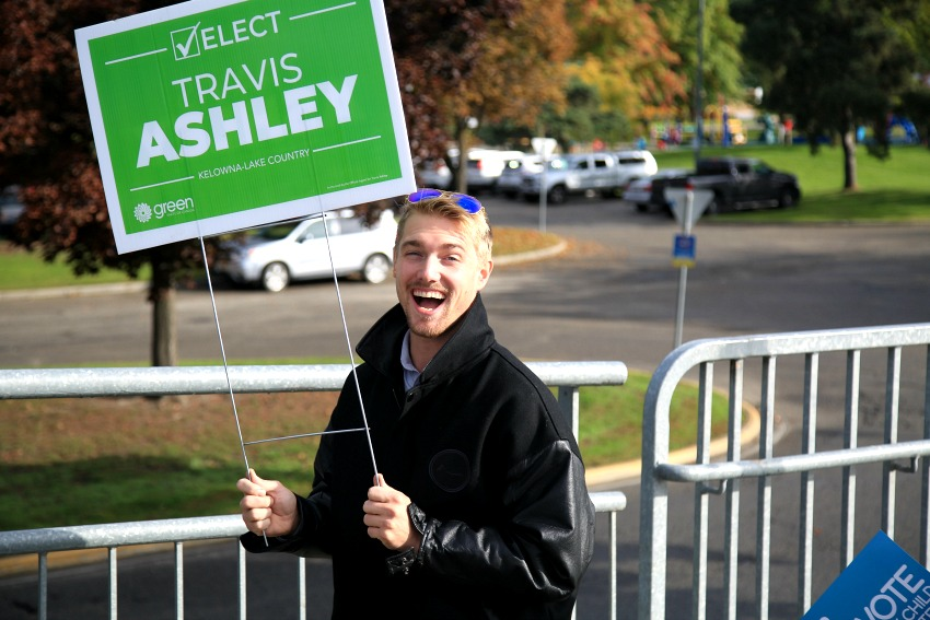 <who>Photo credit: NowMedia<who>Green Party candidate Travis Ashley