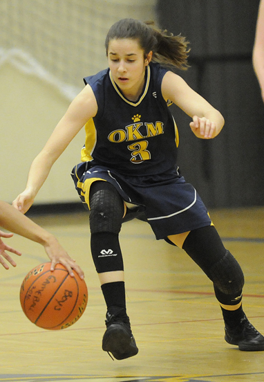 <who>Photo Credit: Lorne White/KelownaNow </who>Melaina Corrado sparked OKM in her first senior game.
