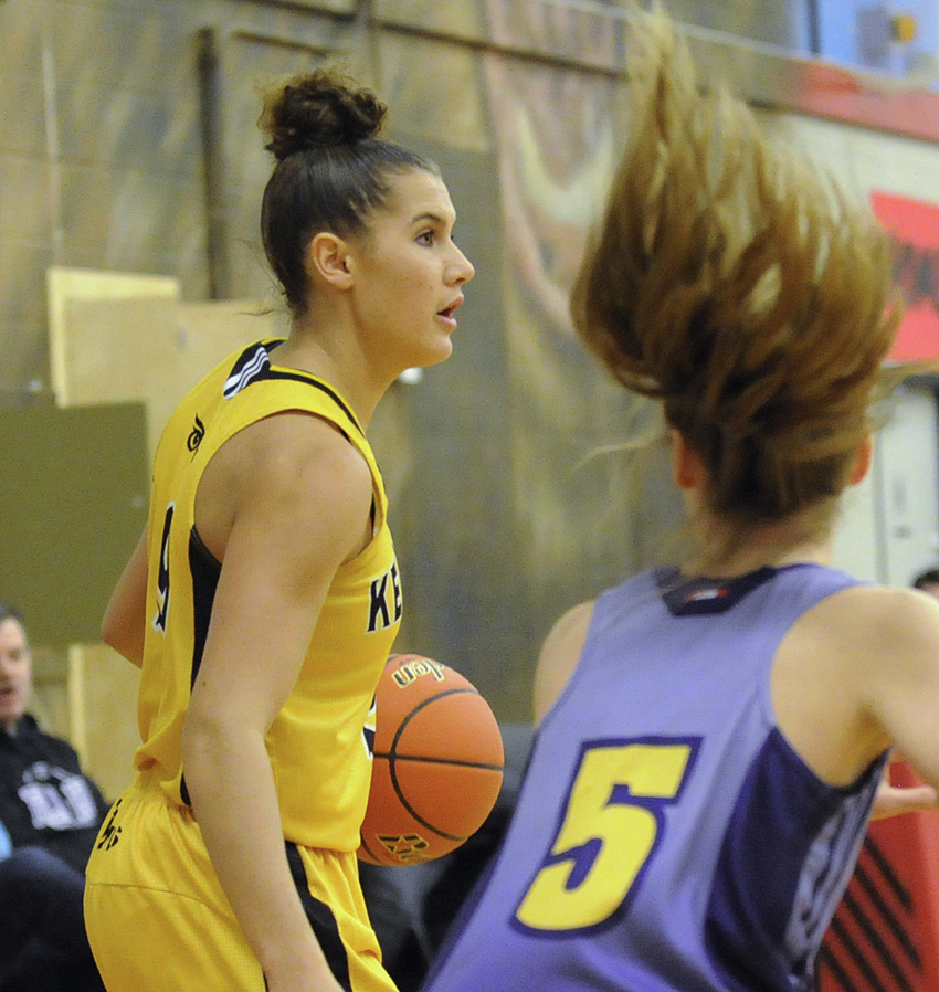<who>Photo Credit: Lorne White/KelownaNow </who>Although sitting out the first game of the tournament, the Owls' Taya Hanson earned first-team all-star honours at the Valley tournament.