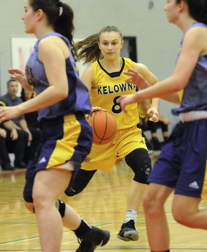 <who>Photo Credit: Lorne White/KelownaNow </who>Selected as the top academic/athletic award winner, Rachel Hare was also named to the Valley's second all-star team.
