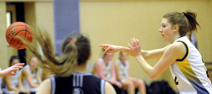 <who>Photo Credit: Lorne White/KelownaNow </who>Malley Richardson leads the team in scoring going into provincials, averaging nearly 14 points per game.