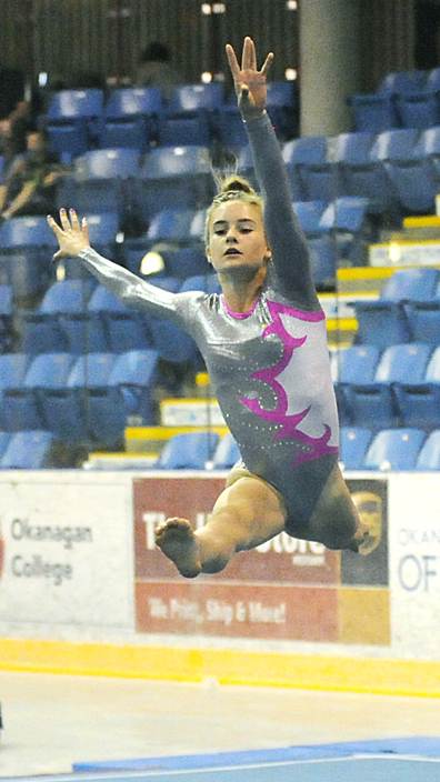 <who>Photo Credit: Lorne White/KelownaNow </who>Jenna Mick finished fourth in two JO 9 events.