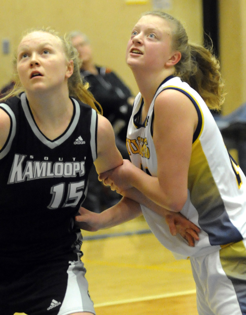 <who>Photo Credit: Lorne White/KelownaNow </who>Jordyn Pink will be a key in the key for the Huskies. She led the team with 15 points and four rebounds in a Okanagan Valley semifinal win over Westsyde of Kamloops.