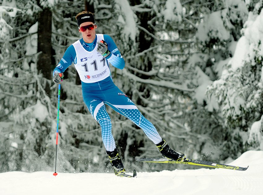 <who>Photo Credit: Lorne White/NowMedia </who>Tallon Noble of the Telemark Nordic Club raced to a pair of gold medals at the Western championships and finished second in the recent Kelowna Apple Loppet skiathlon event at Telemark.